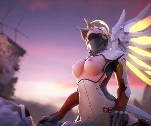 Overwatch - mercy riding