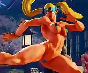 Mika Street Fighter Oil..