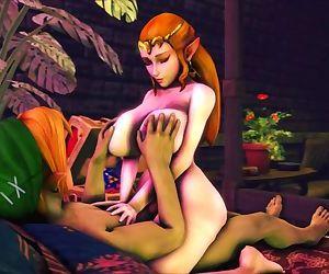 Zelda Rides Links Cock..