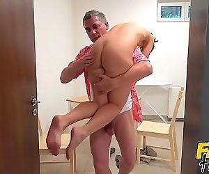 Fake Hostel – Young petite backpacker dirty and sweaty from Thailand adventure gets a sloppy wet fuck after being..