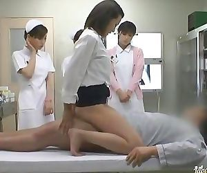 Horny Asian nurses take..