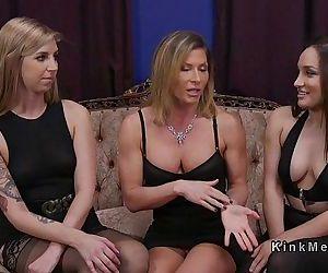 Threesome lezdom anal..