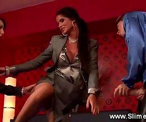 Bukkake loving lesbian..