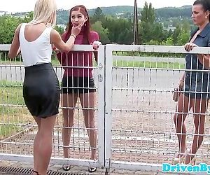 Lesbian eurobabes pee..