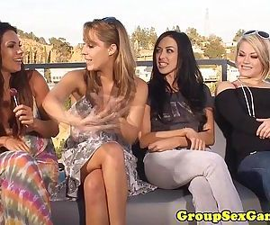 Outdoor lesbian sexgame..
