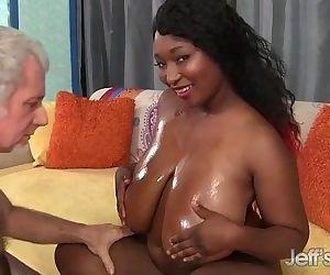 Big Boobed black girl..