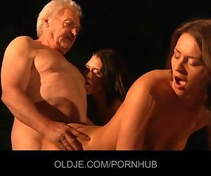 Old and young threesome
