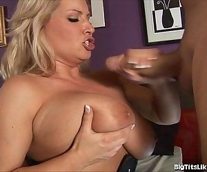 Blonde With Giant Tits..