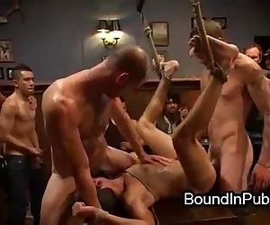 Bound gay groped and..
