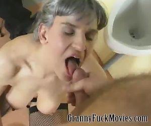 Nasty granny group fuck..