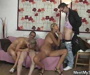 Foursome with her BF\'s..