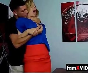Hot Mom forced by son..