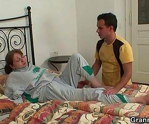 Injured granny takes..