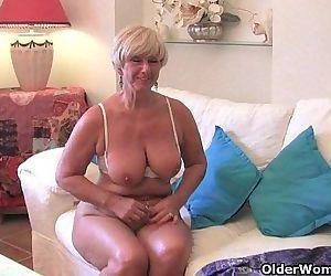 Chubby grandma with big..