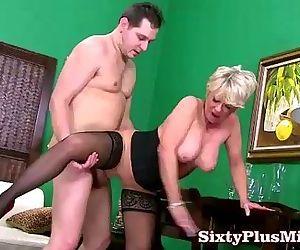 Blonde mature lady fuck..