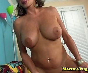 POV tugging granny with..