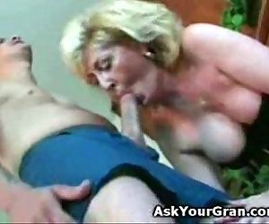 Granny fucked on the..