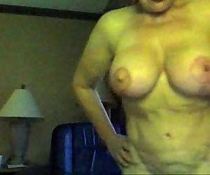 Granny Big boobs on cam..