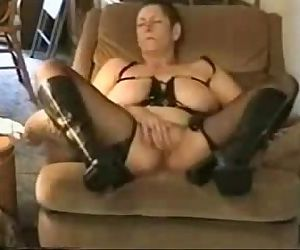 Great orgasm of slut..