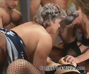 Grandma in hardcore..