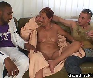 Granny gets nailed from..