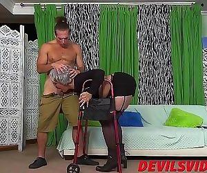 Big ass granny gets..