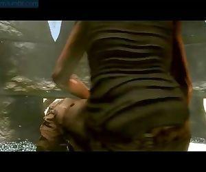 Lara Croft on high an..