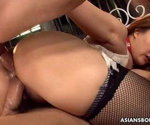 Big boobs and ass Asian..