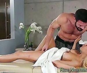 Gorgeous masseuse..