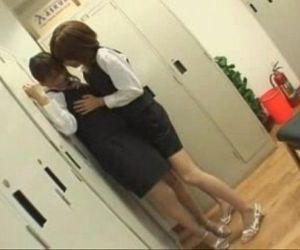 Lesbian Jap After Work