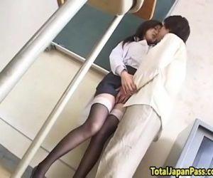 Oriental schoolgirl..