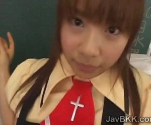 Innocent schoolgirl..