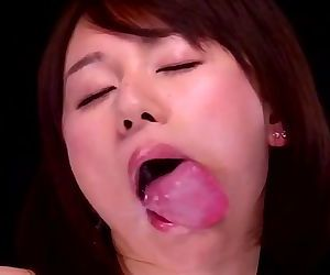 Japanese girl licking..