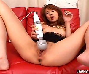 Asian slut toy fucks..