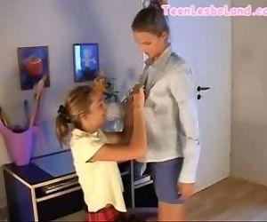 Petite Lesbian School..