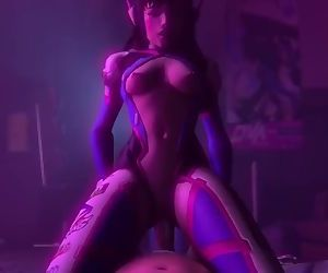 Overwatch D.Va Rough Sex