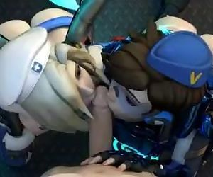 Mercy X Tracer Blowjob..