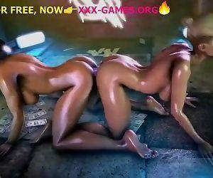Lesbian double dildo,..