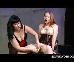 Femdom Lesbian Spank..