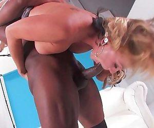 Blonde Interracial..