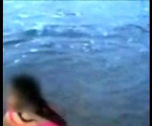 Indian Mom On Beach -..
