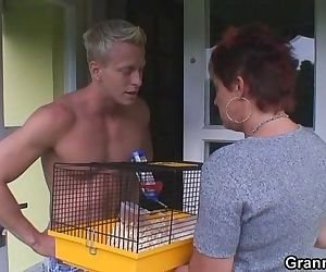 Old chick allows him..