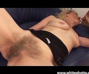 Super Hairy Blonde MILF..