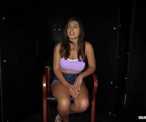 latina teen swallows in..
