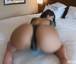 Thick Latina gags on..
