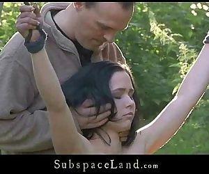 Petite slave suffers..