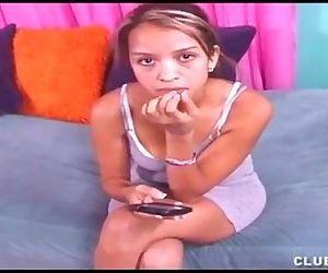Cute Teen Latina Gives..