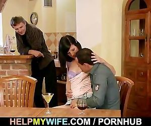 Wife rides stranger\'s..
