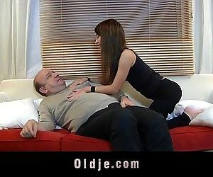 Old man devoured by a..