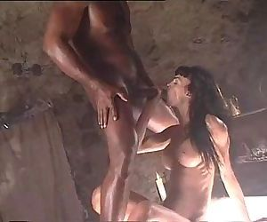 Interracial porn scene..